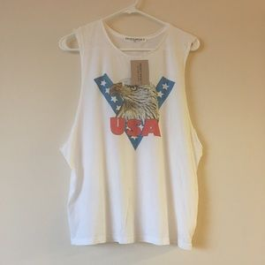 💙NWT💙 Project Social T USA Eagle Muscle Tank